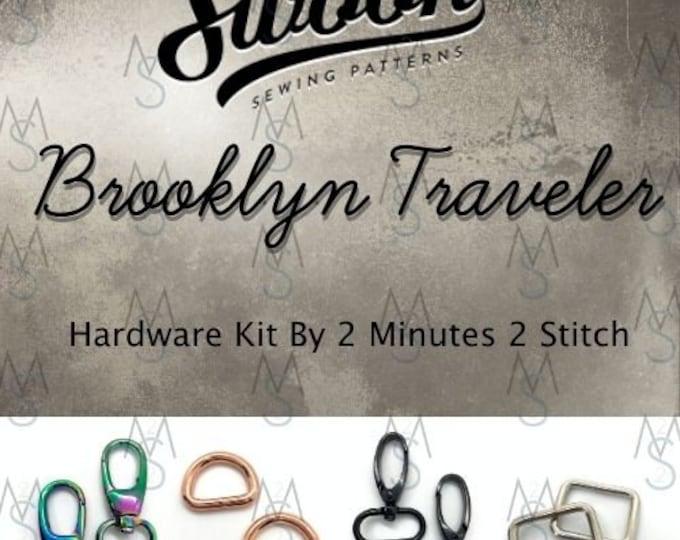 Brooklyn Traveler - Swoon Patterns - Swoon Hardware Kit - Brooklyn Hardware - Bag Hardware - 2 Minutes 2 Stitch