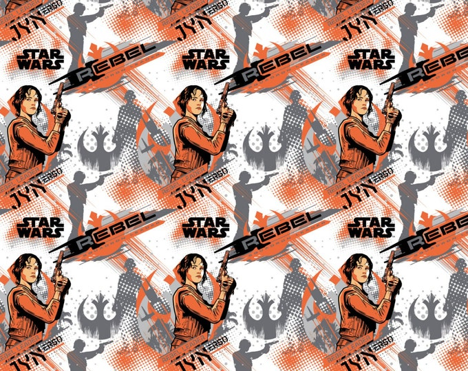 Star Wars Rogue One Collection by Camelot - Orange Star Wars Jyn Erso - Cotton Woven Fabric