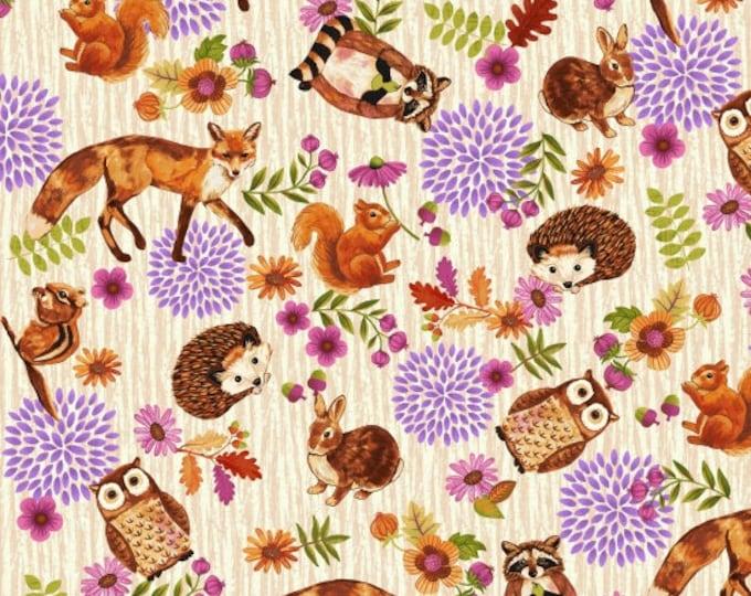 Enchanted by Studio E - Characters Allover Cream - Cotton Woven Fabric - FAT QUARTER