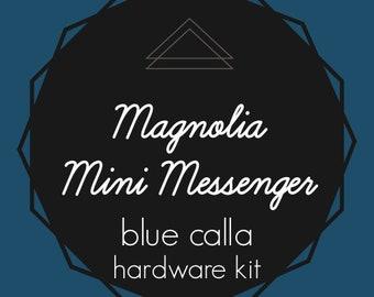 Magnolia Mini Messenger Bag - Blue Calla Hardware Kit - Swivel Clips, D-Rings