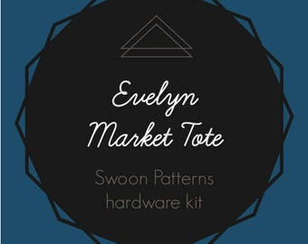 Evelyn Market Tote - Swoon Hardware Kit - Rectangle Rings