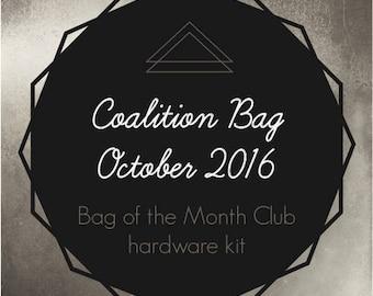 Coalition Bag Hardware Kit - Bag of the Month Club - October 2016 Hardware Kit