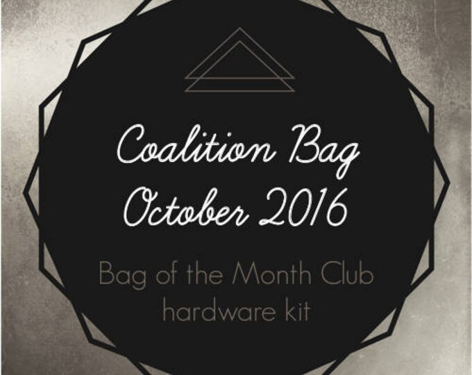 Coalition Bag Hardware Kit - Bag of the Month Club - October 2016 Hardware Kit