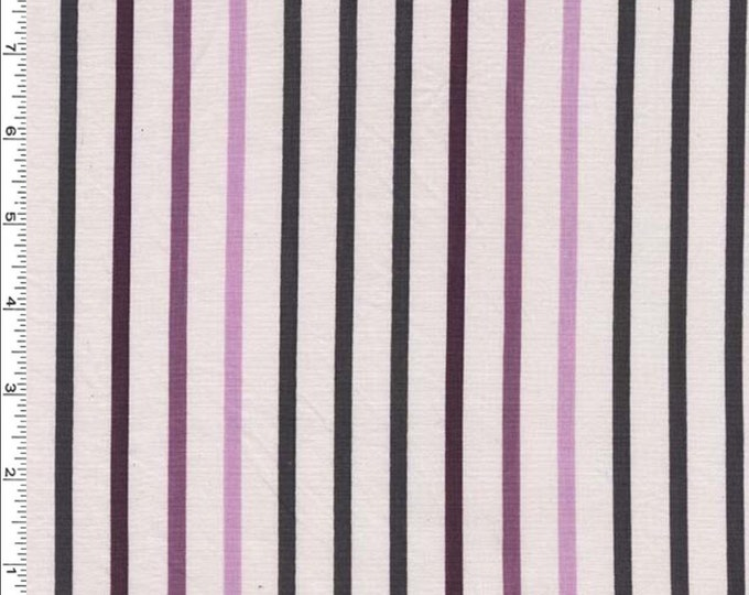 Michael Miller - Pavillion Stripe Plum - Cotton Woven Fabric