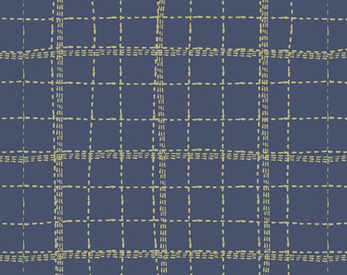 Mad Plaid by Art Gallery - Deep Sea Plaid - Cotton/Spandex Knit