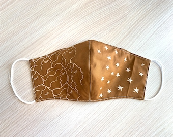 Ladies/Teen Face Mask - Fabric Face Mask - Fitted Face Mask - Handmade Mask - Reusable Mask - Washable Mask - Non-Medical