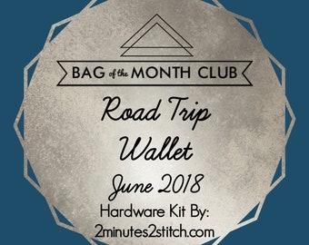 Road Trip Wallet Hardware - Bag of the Month Club - Emmaline Bags - June 2018 Hardware Kit