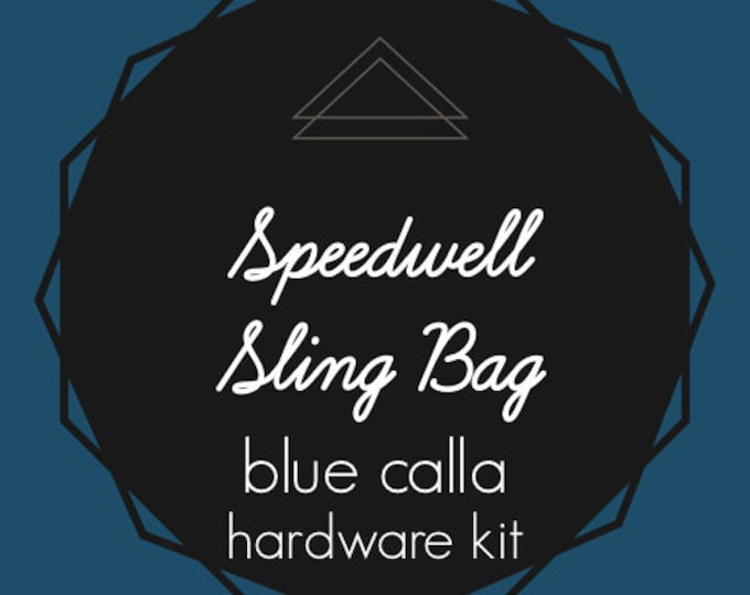 Speedwell Sling Bag - Blue Calla Hardware Kit - Swivel Clips, D-Rings