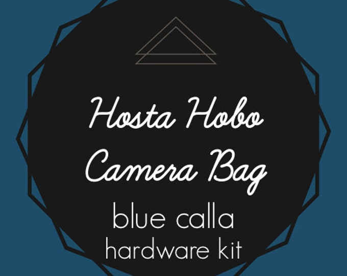 Hosta Hobo Camera Bag - Blue Calla Hardware Kit - Swivel Clips, D-Rings