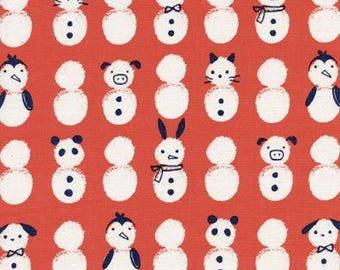 Noel by Cotton + Steel - Snow Babies Red - Cotton Woven Fabric