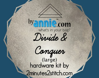 Divide & Conquer (large size) - ByAnnie - Hardware Kit by 2 Minutes 2 Stitch