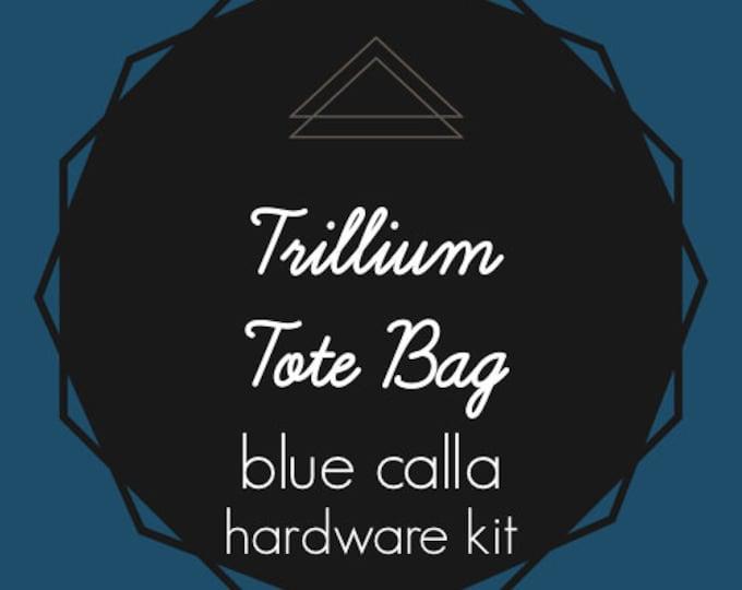 Trillium Tote Bag - Blue Calla Hardware Kit - Swivel Clips, D-Rings