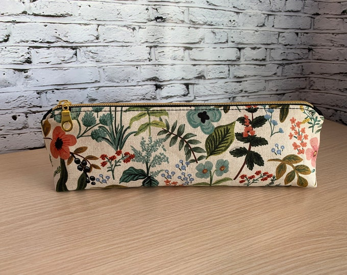 Zipper Pouch - Pencil Pouch - Makeup Case - Canvas Pouch