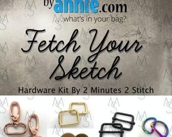 Fetch Your Sketch - ByAnnie - Hardware Kit by 2 Minutes 2 Stitch