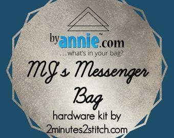 MJ's Messenger Bag - ByAnnie - Hardware Kit by 2 Minutes 2 Stitch