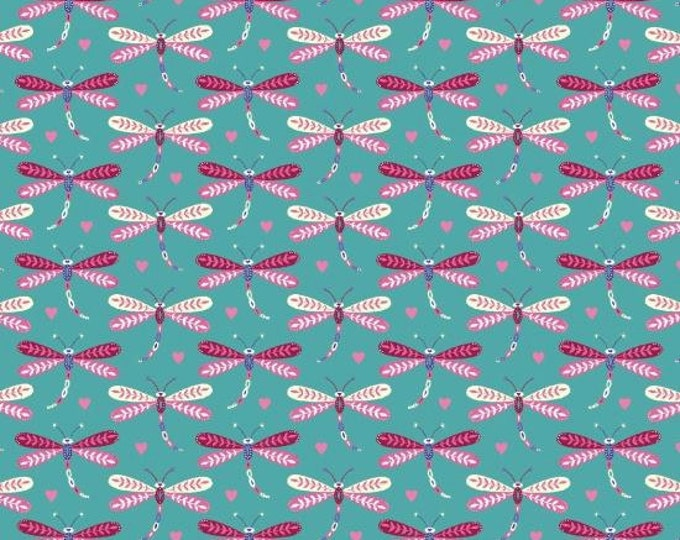 Daydream by Blank Quilting - Small Dragonflies Blue - Cotton Woven Fabric