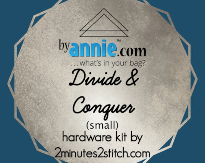 Divide & Conquer (small size) - ByAnnie - Hardware Kit by 2 Minutes 2 Stitch