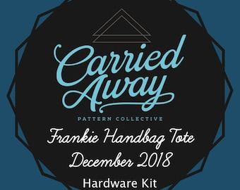 Carried Away Pattern Collective - Frankie Handbag Tote - December 2018 Hardware Kit - Swoon Patterns - Blue Calla Patterns