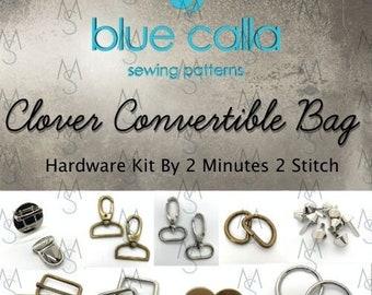Clover Convertible Bag Hardware Kit - Blue Calla - Bag of the Month Club - January 2017 Hardware Kit