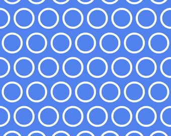 Elements by Windham - Cobalt Cosmic Rings - Cotton Woven Fabric