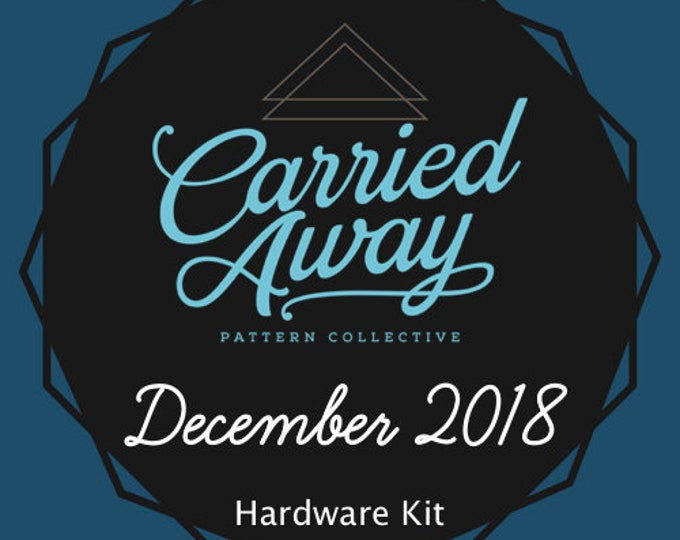 Carried Away Pattern Collective - December 2018 Hardware Kit - Swoon Patterns - Blue Calla Patterns
