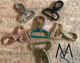 4 Swivel Clips - Lobster Clasp - 1-1/2 Inch - 38mm - Swivel Hooks - Bag Hardware - Strap Hooks - Strap Clips - 2 Minutes 2 Stitch