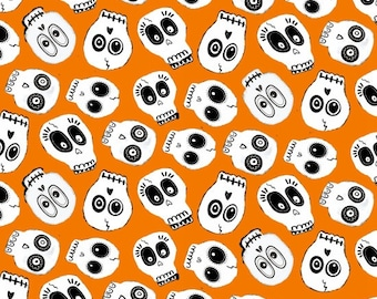 Ready, Set, Glow by Blank Quilting - Skulls - GLOW in the Dark Cotton Woven Fabric