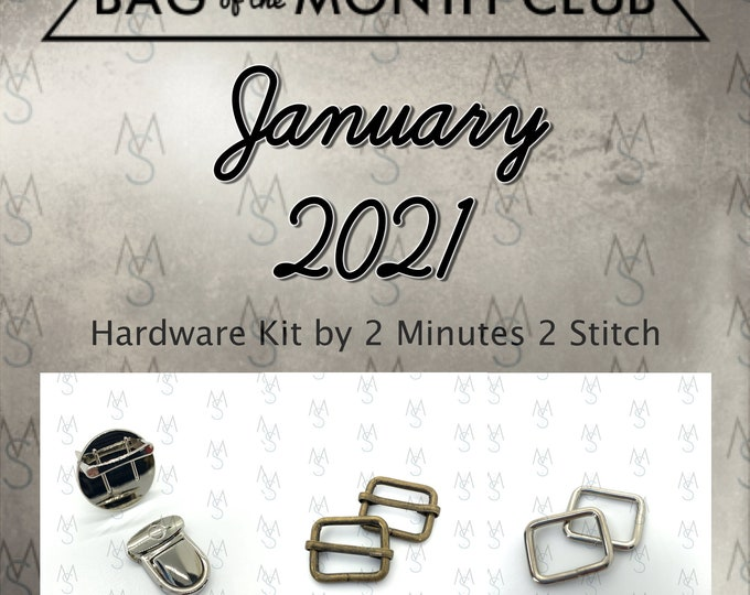 Bag of the Month Club - January 2021 Hardware Kit - Emmaline Bags - Janelle MacKay