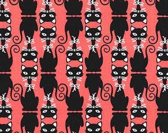 Cats & Dogs by Michael Miller - High Society Clementine - Cotton Woven Fabric - FAT QUARTER