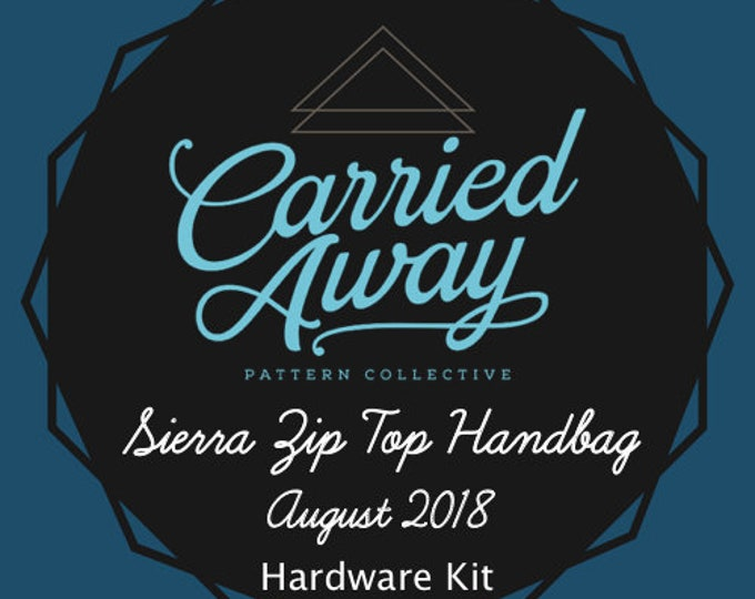 Sierra Zip Top Handbag - Carried Away Pattern Collective - August 2018 Hardware Kit - Swoon Patterns - Blue Calla Patterns