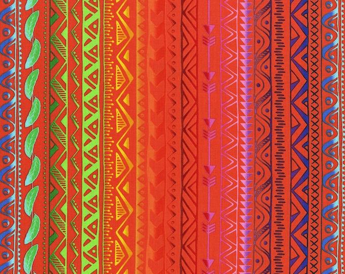 Pow Wow Wow by RJR - Stripe Bright Orange - Cotton Woven Fabric