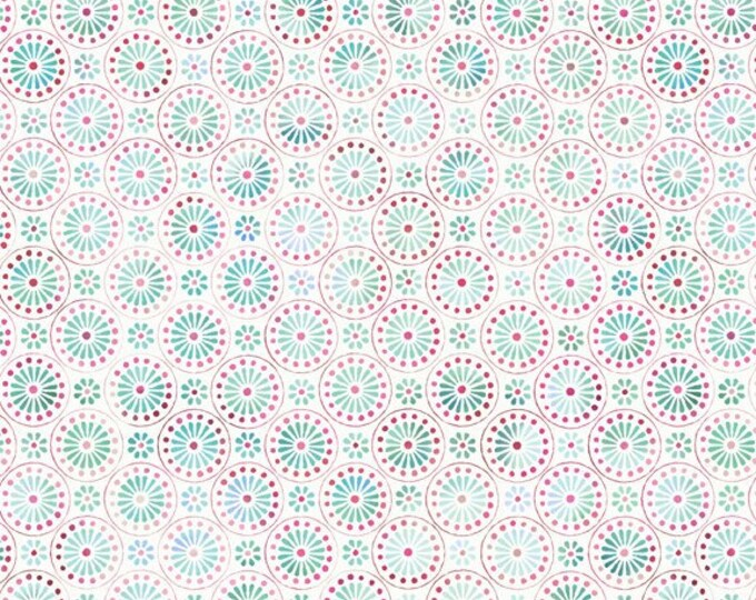 Bohemian Manor by In The Beginning Fabrics - Small Medallions Pink - Cotton Woven Fabric