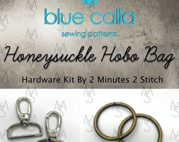 Honeysuckle Hobo Bag - Blue Calla Patterns - Hardware Kit by 2 Minutes 2 Stitch