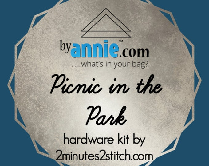 Picnic in the Park - ByAnnie - Hardware Kit by 2 Minutes 2 Stitch