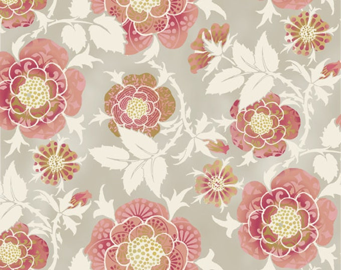 Bohemian Manor by In The Beginning Fabrics - Floral Peach - Cotton Woven Fabric