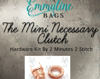 The Mini Necessary Clutch Wallet - Emmaline Bags - Hardware Kit by 2 Minutes 2 Stitch