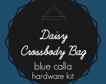Daisy Crossbody Bag - Blue Calla Hardware Kit - Swivel Clips, D-Rings