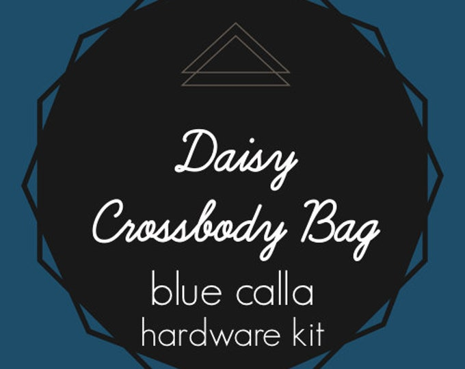 Daisy Crossbody Bag - Blue Calla Hardware Kit - Swivel Clips, D-Rings