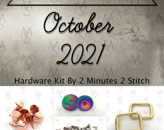 October 2021 Hardware Kit - Bag of the Month Club - Sewing Patterns by Mrs H - Samantha Hussey