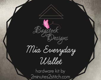 Mia Everyday Wallet - Bagstock Designs - Hardware Kit Only