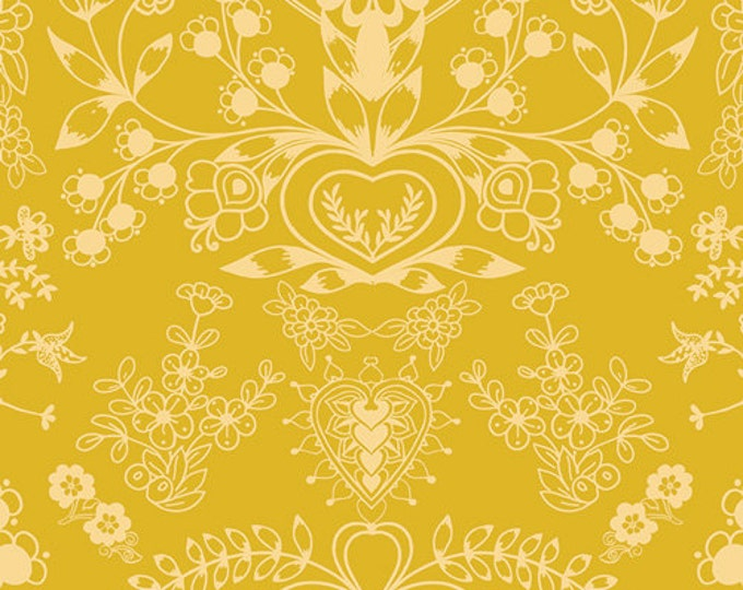 Essentials II by Pat Bravo for Art Gallery Fabrics - Floralism Gold - Cotton Woven Fabric
