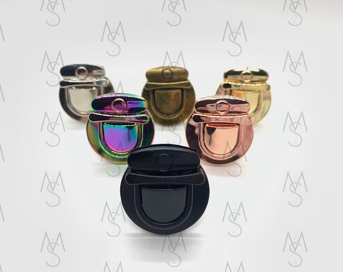 Set of (5) Five Press Locks - Thumb Lock - Tongue Lock - Bag Lock - Wallet Lock - Bag Clasp - Wallet Clasp - Bag Hardware