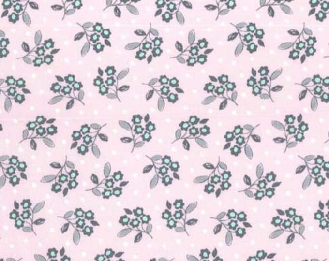 Butterfly Row by Michael Miller - Flower Toss Pink - Cotton Woven Fabric