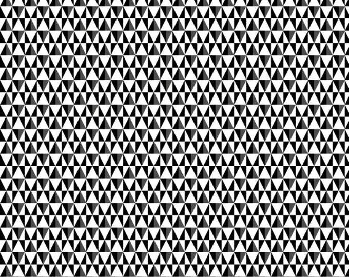 Black, White & Bright by Henry Glass - Triangles Geo Black and White - Cotton Woven Fabric