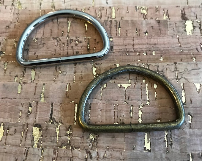 D-Ring - 1-1/2 Inches Wide - 10 pieces - Dee Rings - Bag Hardware - 2 Minutes 2 Stitch