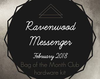 Bag of the Month Club - Ravenwood Messenger - Betz White - February 2018 Hardware Kit