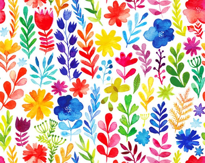 Floral Menagerie by In The Beginning Fabrics - Multicolor Floral - Cotton Woven Fabric