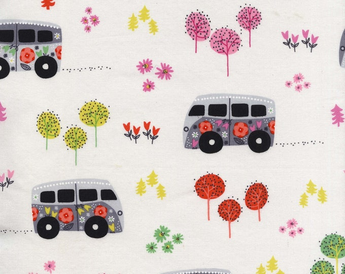 Road Trip by Michael Miller - Hit The Road Happy - Cotton Woven Fabric - FAT QUARTER
