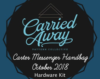 Carried Away Pattern Collective - Carter Messenger Handbag - October 2018 Hardware Kit - Swoon Patterns - Blue Calla Patterns