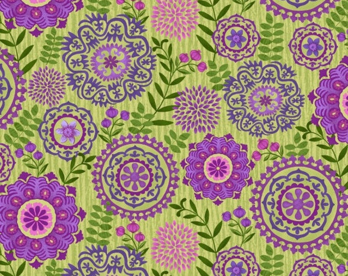 Enchanted by Studio E - Medallions Sage - Cotton Woven Fabric